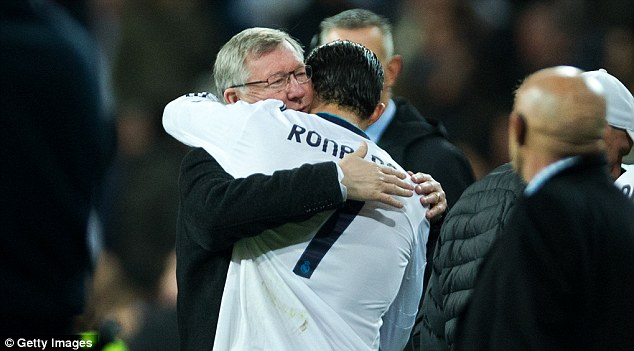 We meet again: Ronaldo faced Manchester United for Madrid last season and was given an ovation