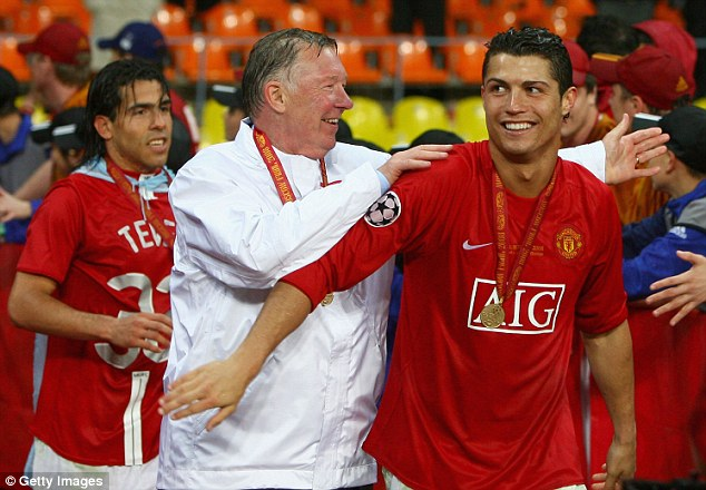 Best of friends: Alex Ferguson and Cristiano Ronaldo after they won the Champions League final against Chelsea