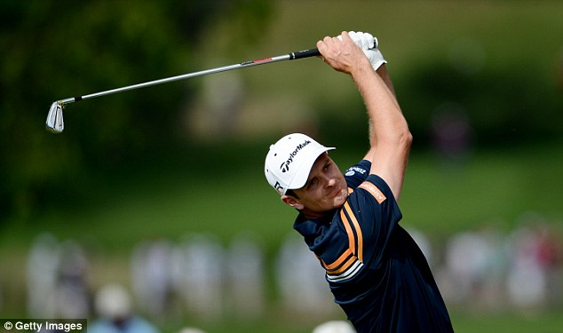 In the hunt: The Englishman found his form with three birdies on the front nine