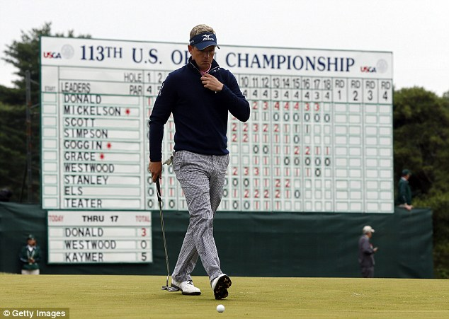 Leader: Luke Donald enjoyed a superb start to his second round of the 113th US Open