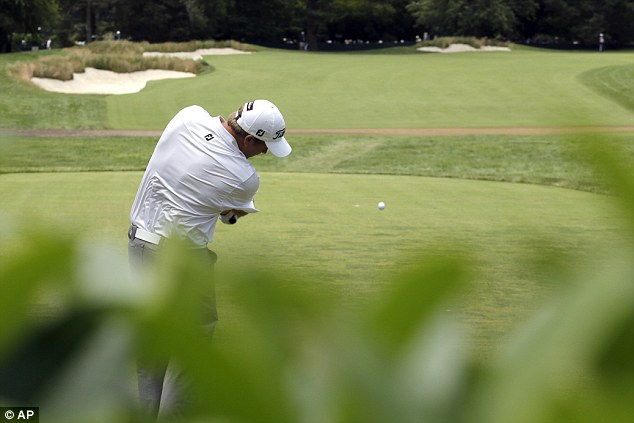 Now watch this drive: Alistair Presnell of Australia tees off on the first hole during the second round