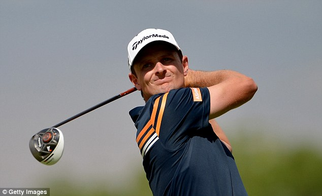 Blooming Rose: Englishman Justin enjoyed a superb start to his second round with two birdies