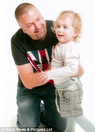 Andrew, pictured with his daughter Savannah, gave up his job as a forklift driver to make the move