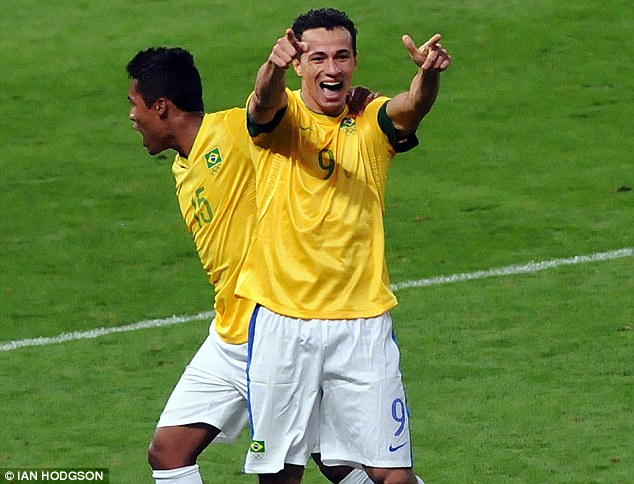Leandro Damiao cele scoring against South Korea  PIcture by Ian Hodgson/Daily Mail