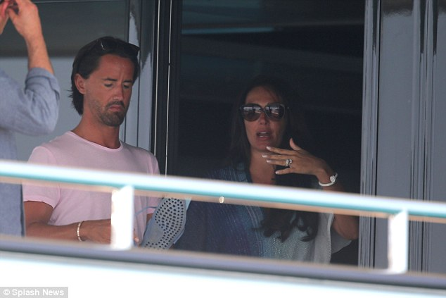 On the mansion: Jay and Tamara have had some alone time together on their yacht