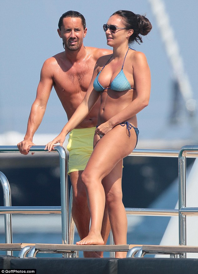 Going the distance: Tamara and Jay anchored their super yacht and took a small boat to the shore in St Tropez