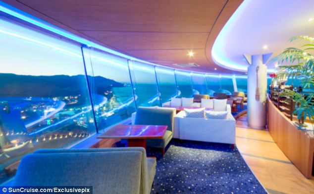 Guests at the South Korean resort enjoy all the fun of a cruise ship without the motion in the ocean to make them feel seasick