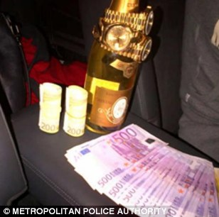 Money on the back seat of a car
