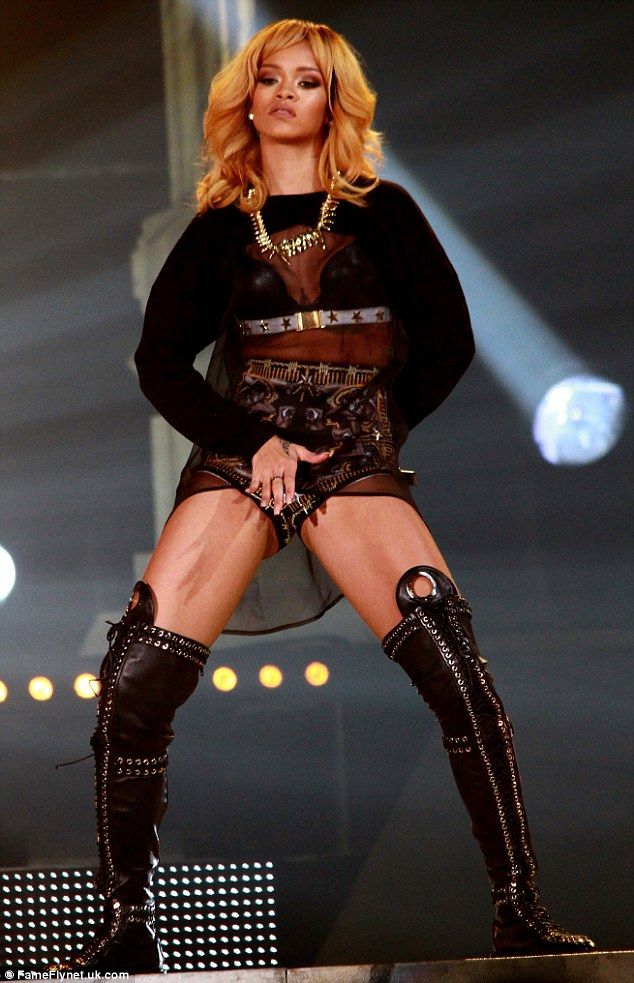 Ready for more: Rihanna will be performing at Twickenham stadium on Saturday and Sunday