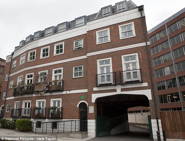 Better than some: Simon Wright has a flat in this complex in Fulham