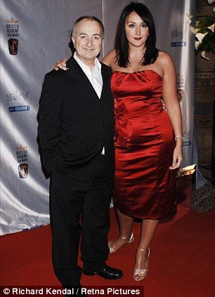 Knight and damsel: Tony Robinson, 66, with his wife Louise, 32