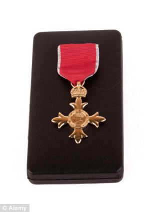 Dishonour: Gongs have been handed out to Thames Water boss Robert Collington, retired Met Police deputy assistant commissioner Sue Akers and Tory donor Michael Hintze