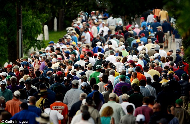 Spectacle: After Thursday's rain, the crowds increased on Friday's full day of play