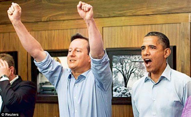 David Cameron, watching football with Barack Obama and Angela Merkel, reputedly likes to 'chillax' regularly