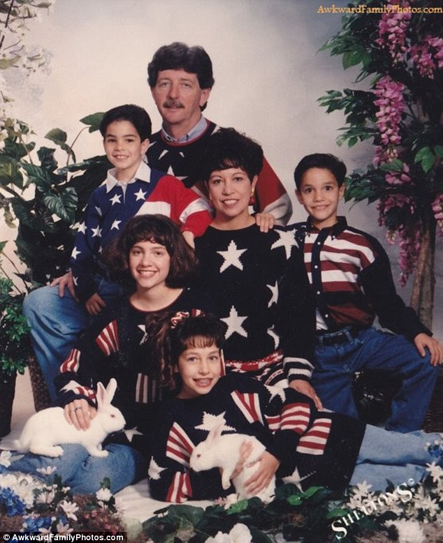 Stars & Stripes: Only the pet rabbits escape the dusting of stars and stripes here