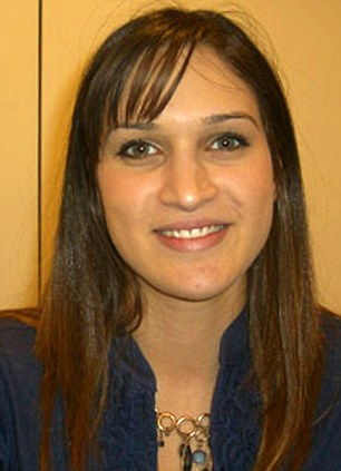 On board: BBC New York producer Nada Tawfik found the note in the cabin toilets scribbled on a napkin