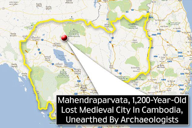 Location: Mahendraparvata lies in the Phnom Kulen mountain range in Siem Reap Province of Cambodia