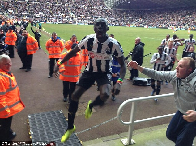 Disquiet: Papiss Cisse could be forced to leave Newcastle in the midst of the new shirt deal