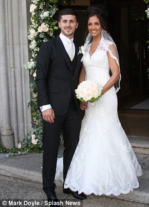 Wedding bells: Shane Long married his fiance Kayleigh in Enniskerry, County Wicklow
