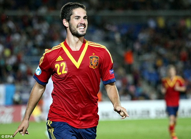 City target: Isco has starred at the Under 21 Championship, scoring in Spain's semi-final win against Norway