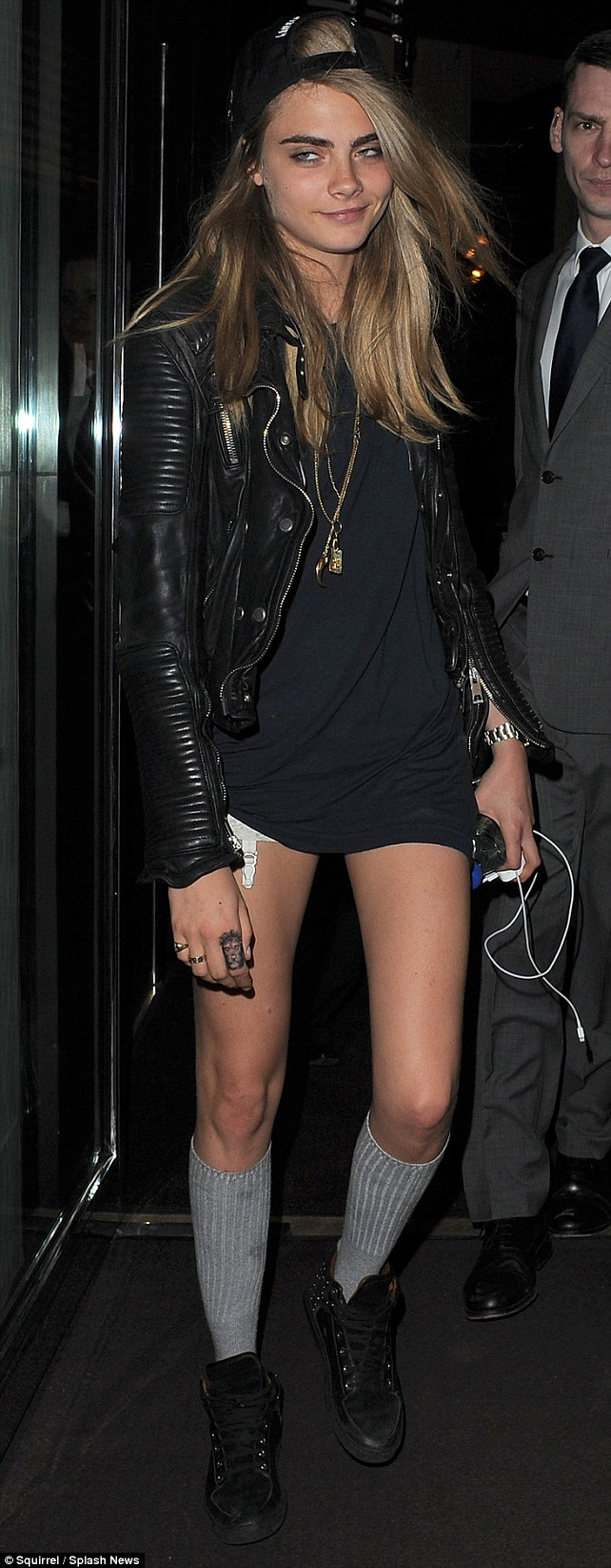 After party: Cara spent an hour in Rihanna's hotel room following the singer's gig at Twickenham