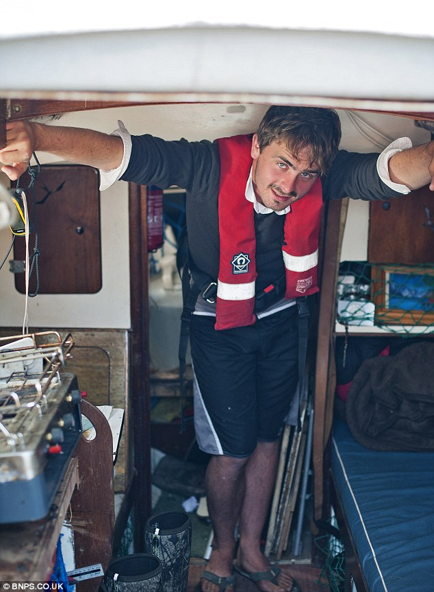 Mind you head: Joe, a physical geography student, saved himself £5,600 while living on his boat for 18 months