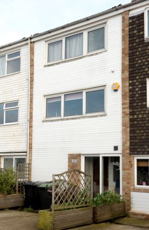 Home: The Goncalves' property in Gosport, Hampshire, which their tenant has so far refused to leave