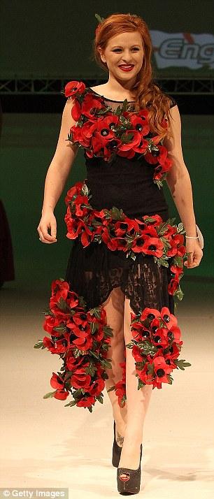 Devon Mayson in a poppy frock