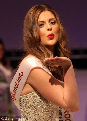 Trying a trifle too hard? Olivia Caven blows a kiss to the judges
