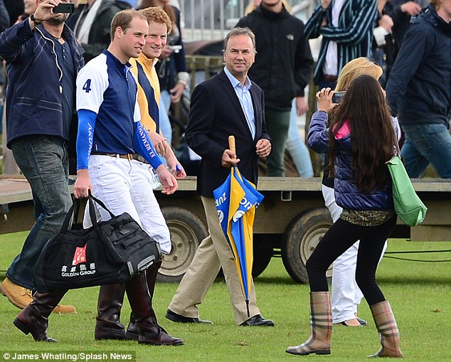 Prince William and Prince Harry are spotted by an eagle eyed Royal fan as they enjoyed a charity polo match at Beaufort Polo Club, Tetbury, Gloucestershire