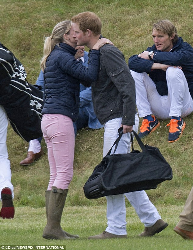 Harry appeared relaxed and happy as he chatted with his friend at the Audi International, is part of the Gloucestershire Festival of Polo