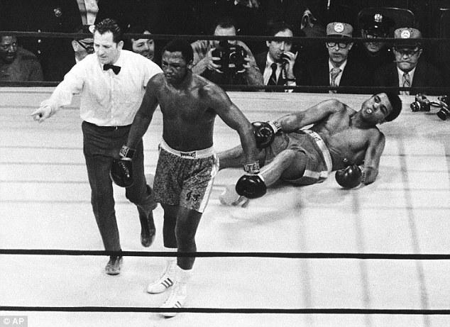 Taking a punt: Philadelphia was chosen as the set of Rocky because it was Joe Frazier's (left) hometown