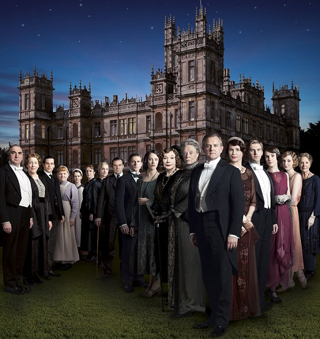 Award winners: Downton Abbey has been a hit in both the UK and stateside