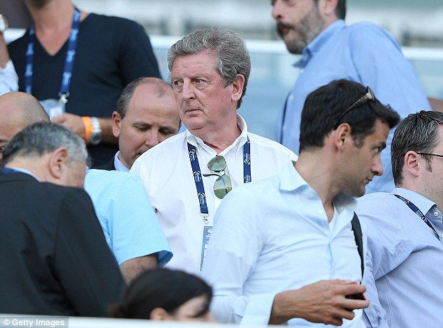 Crisis? England manager Roy Hodgson watched Stuart Pearce's Under 21s limp out in Israel