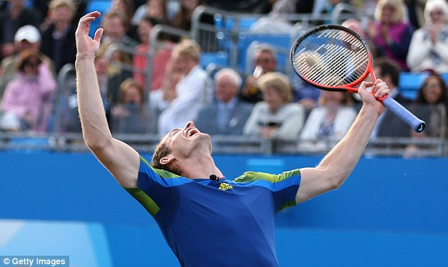 Glory: But Andy Murray donated his prize money towards a charity fundraiser