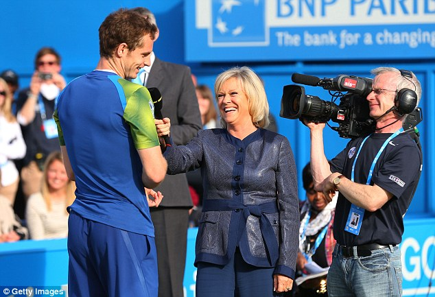 Amazing: Sue Barker loved the atmosphere stoked up for Murray by the fans