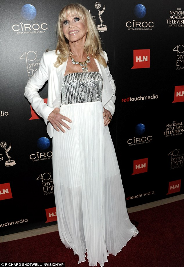 Still a star: Britt knows how to work the red carpet at the Daytime Emmys