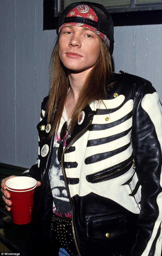 Back in the day: Axl, shown in 1988, has changed over the years