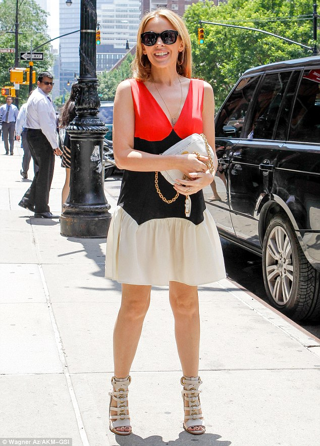 How do you do it: Kylie Mingoue looked less than half of her 45 years in New York on Monday
