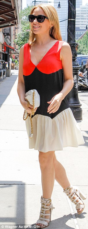 Comfortable: Kylie seems to be as happy in New York as she does in her adopted home town of London