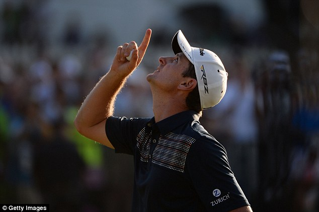 Pointing the way: Rose held on to see off Phil Mickelson and Hunter Mahan