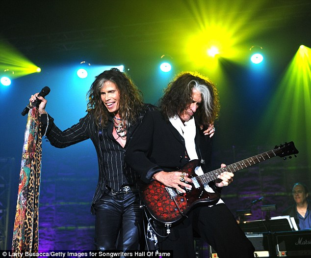 Still rocking since 1970! Last Thursday, Tyler and his bandmate Joe Perry received the ASCAP Founders Award and were inducted into the Songwriters Hall of Fame