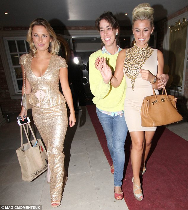 Bare hands: Sam was seen leaving the party with her sister and without her engagement ring