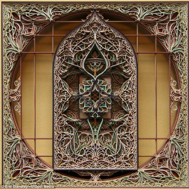 The 3D pieces are often symmetrical to mimic ancient art motifs