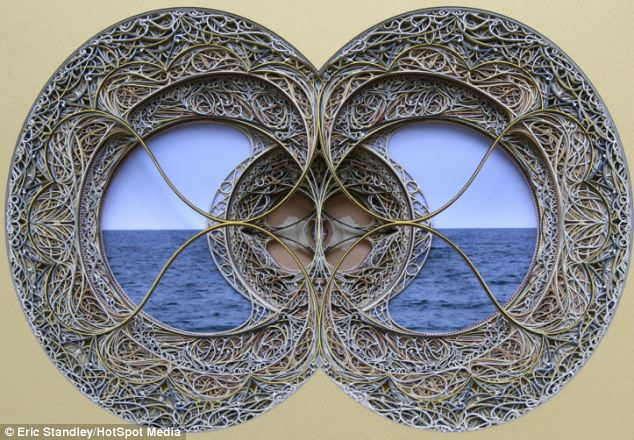This one looks like a window to the sea made of delicate loops of paper