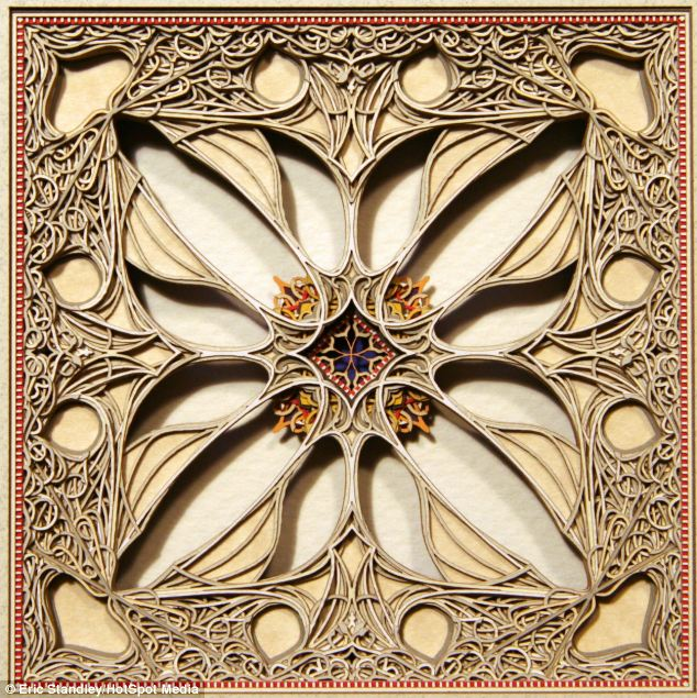 Standley's projects are inspired by Gothic, Islamic, and Greek art motifs
