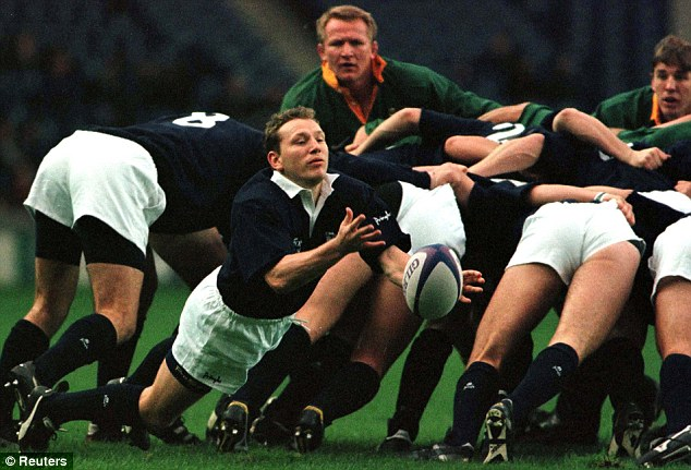 SCOTLANDS ANDY NICOL CLEARS A SCRUM AGAINST SOUTH AFRICA
