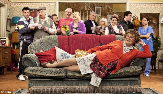 Not a fan: Mr Cryer claims that comedies like Mrs Brown's Boys, pictured, have taken comedy 'back to basics'