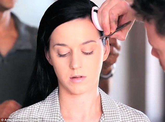 Her canvas: She admits she has to get every detail of her skin right because she is often filmed in high definition