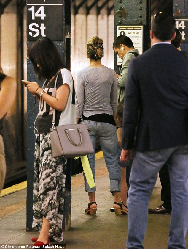 What would Carrie say? Sarah Jessica Parker was spotted taking the subway during a family day out in New York earlier this week